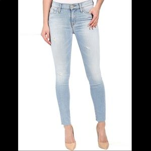 Hudson girl's 14 raw hem light wash jeans